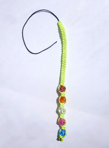 Neon Yellow Tie-in Dread Jewel
