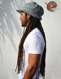 Super Dread Large Grey Dreadlocks Peaked Tam Cap