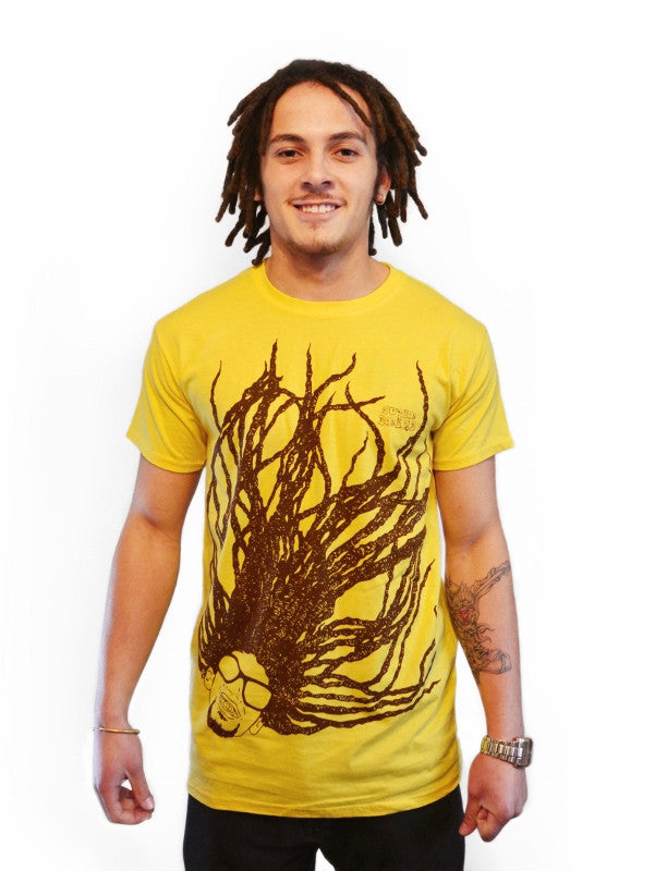 Super Dread Natty Dreadlocks T-Shirt - Yellow