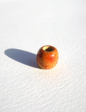 Red Patterned Wooden Dreadlock Bead