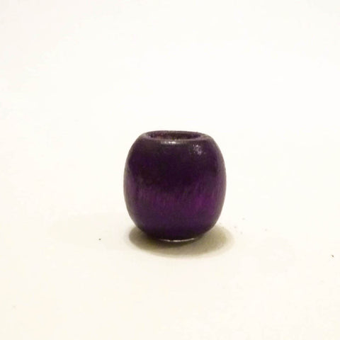 Purple Wooden Dreadlock Bead