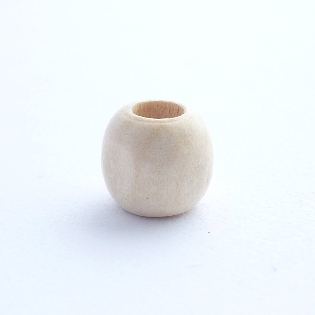 White Wooden Dreadlock Bead