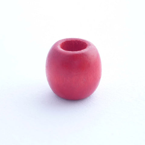 Red Wooden Dreadlock Bead