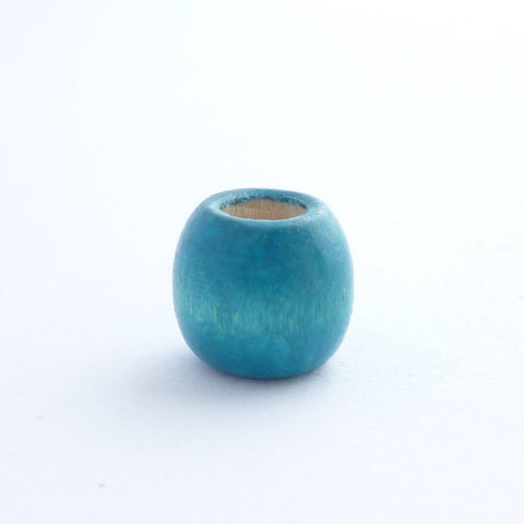 Blue Wooden Dreadlock Bead