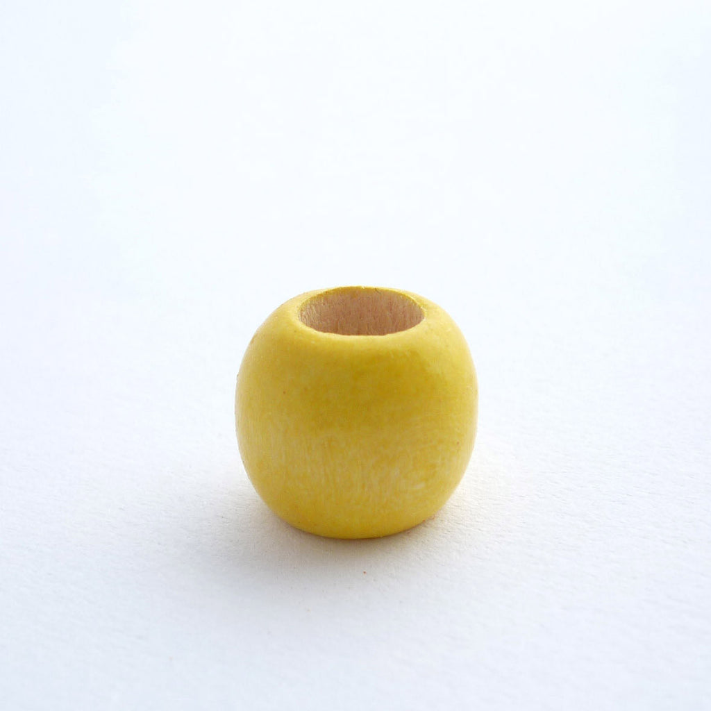 Yellow Wooden Dreadlock Bead
