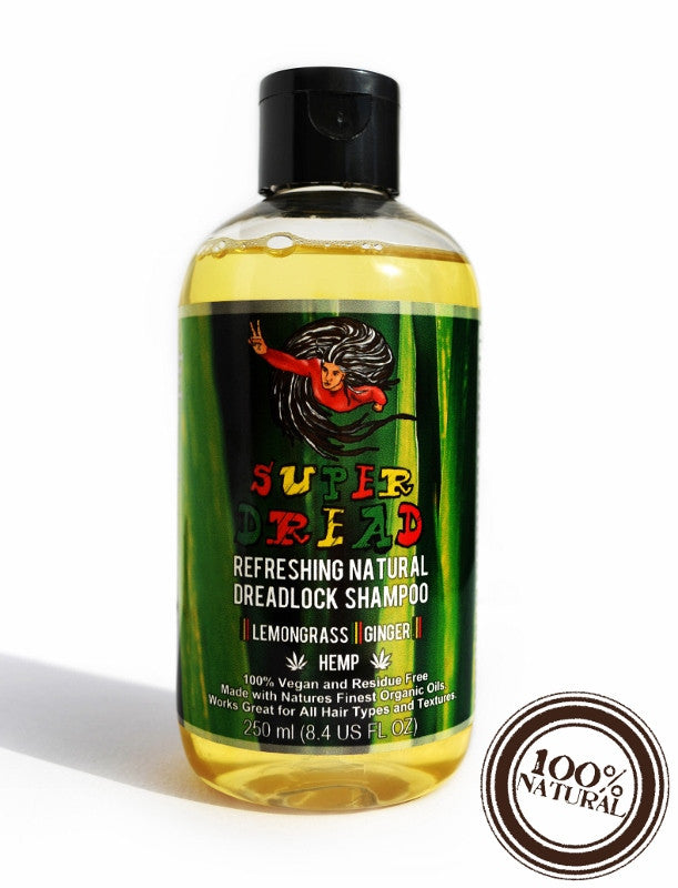 Super Dread Natural Dreadlock Shampoo - Hemp, Lemongrass and Ginger