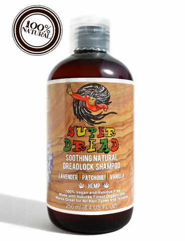 Super Dread Natural Dreadlock Shampoo - Hemp, Lavender, Patchouli and Vanilla