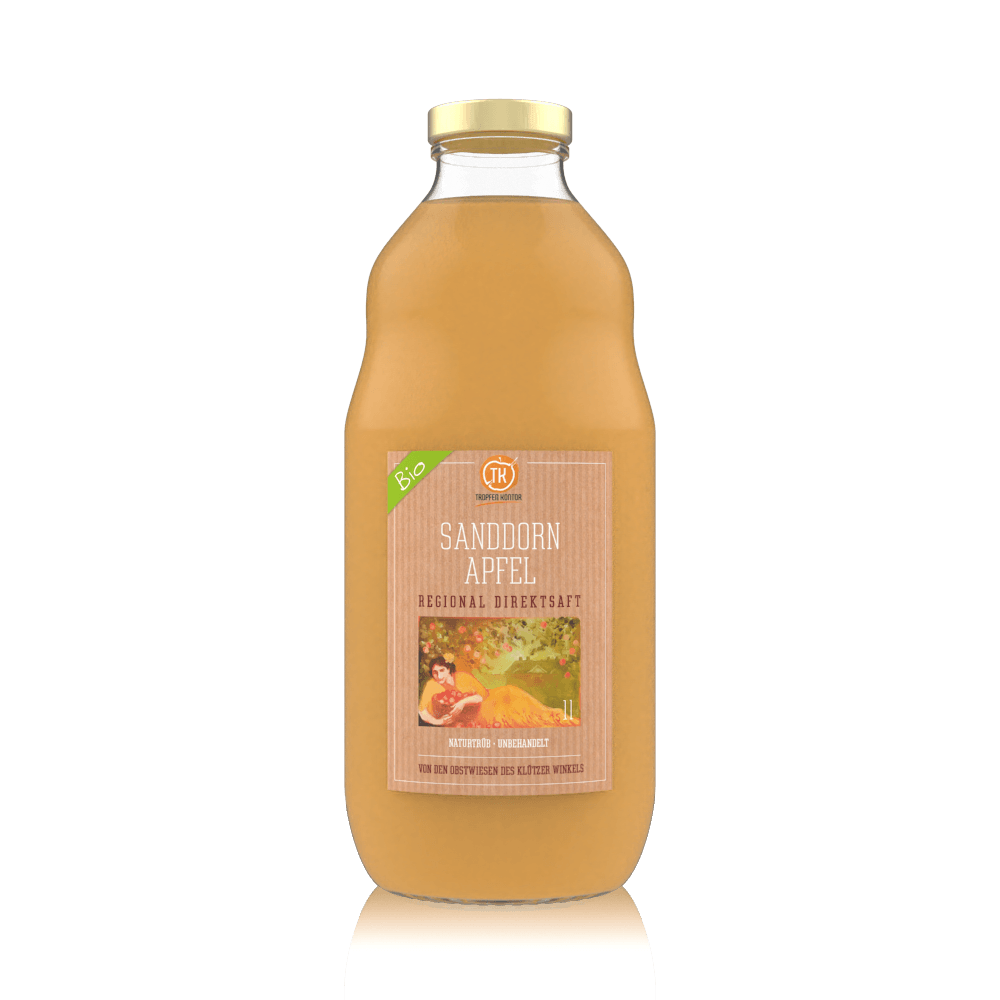 BIO Sanddorn Apfelsaft - [product-vendor] - 1 Flasche - 1L - [product-type]