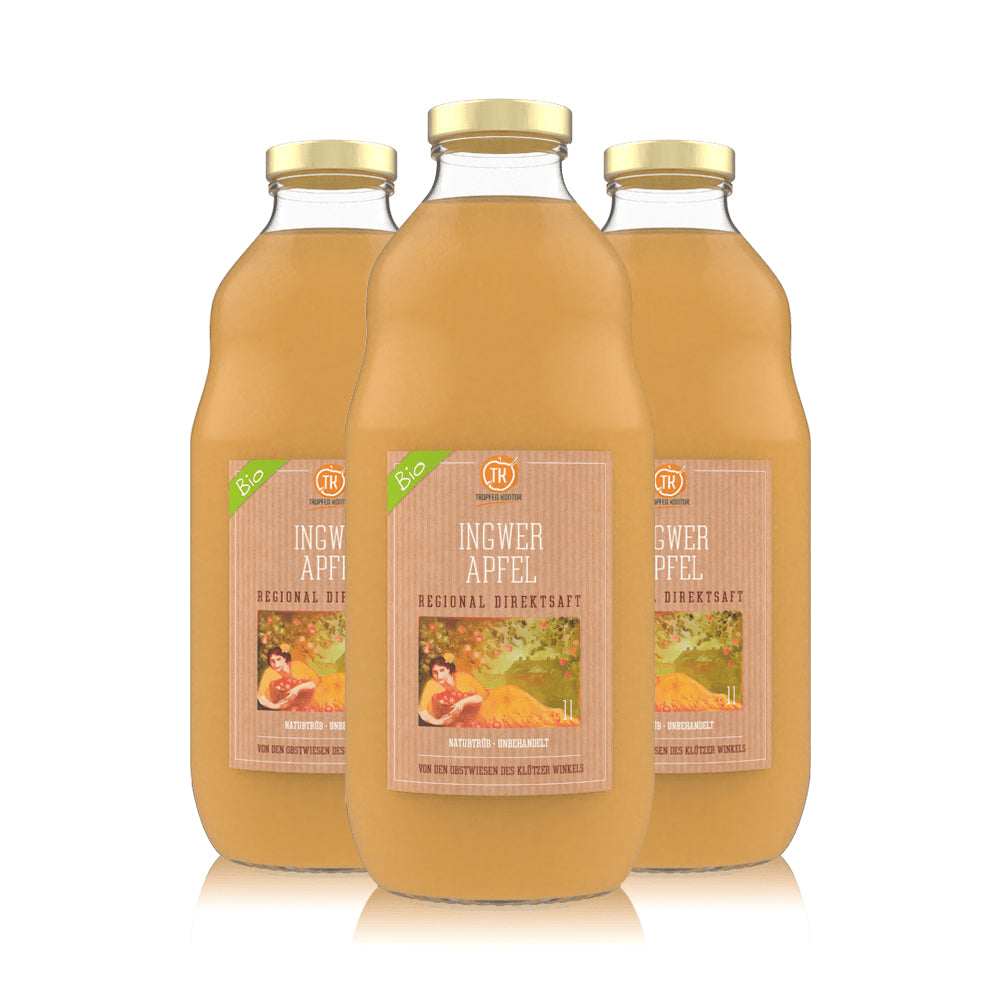 Ingwer Apfelsaft Bio - [product-vendor] - 3 Flaschen - 3L - [product-type]