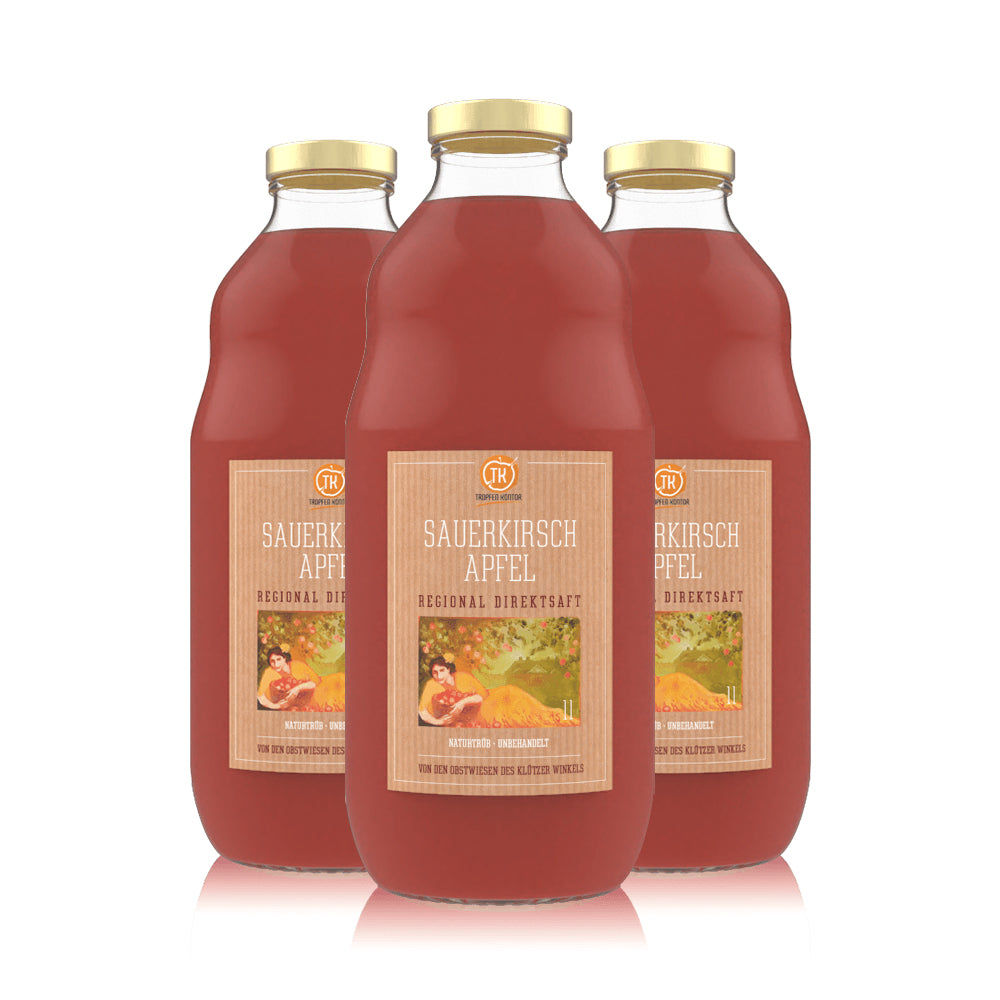 Sauerkirsch-Apfelsaft - [product-vendor] - 3 Flaschen - 3L - [product-type]