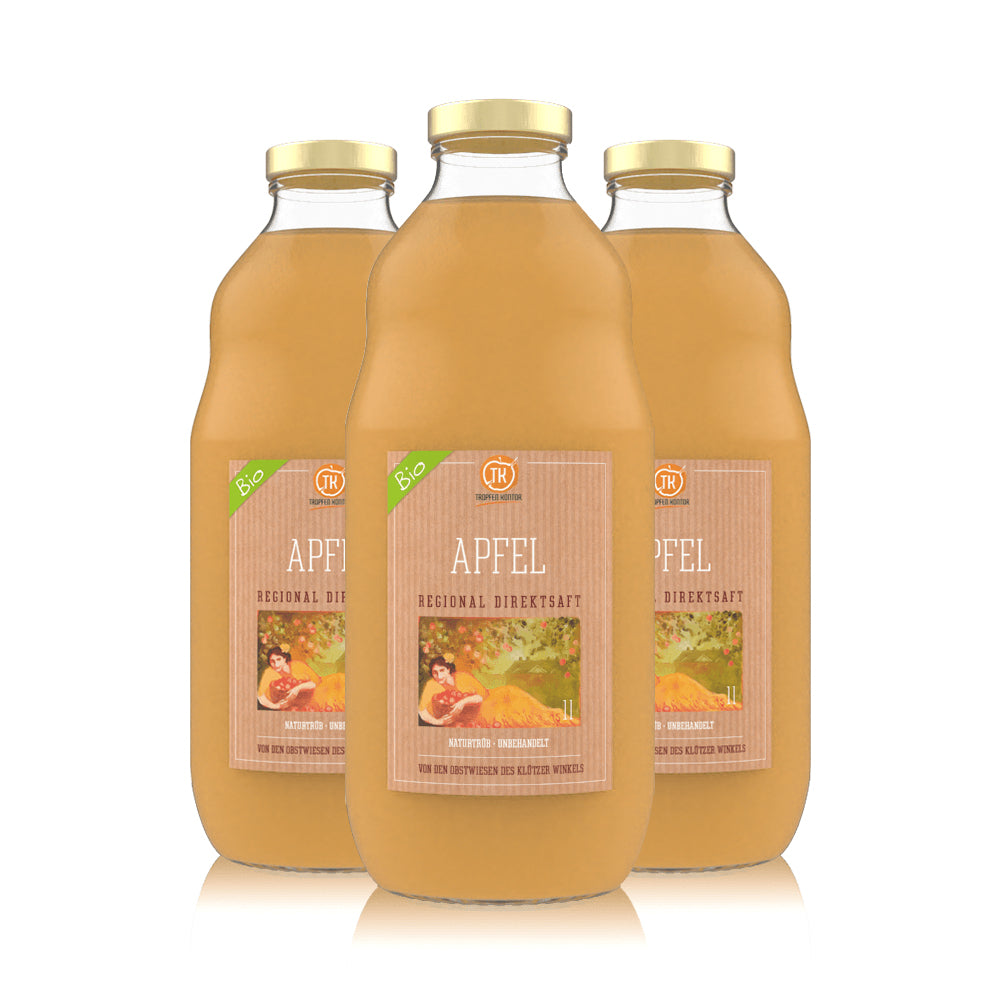 BIO 100% Apfelsaft - [product-vendor] - 3 Flaschen - 3L - [product-type]