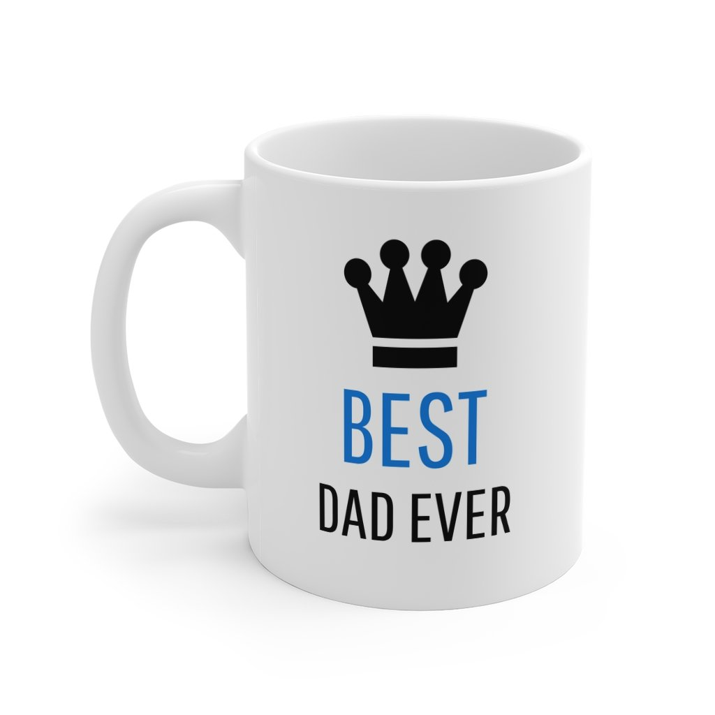 Best Dad With Crown Coffee Mug