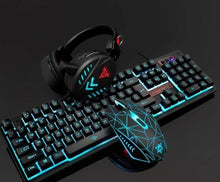 Load image into Gallery viewer, Waterproof LED Wired Gaming Keyboard Set with Gaming Headset and Gaming Mouse