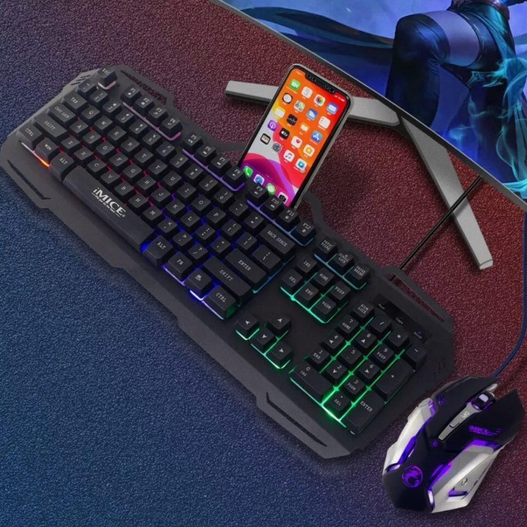 Dragon Midnight Black Mechanical Gaming Keyboard and Mouse Set