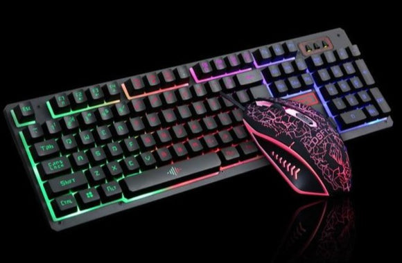 Ninja Stealth 104 Keys LED Flame Gaming Keyboard with 2000DPI Mouse