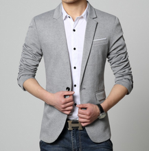 Load image into Gallery viewer, Mens One Button Classic Blazer