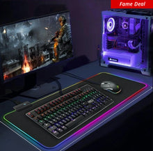 "Load image into Gallery viewer, RGB Gaming Light Up Mouse Pad 11.8"" X 31"""