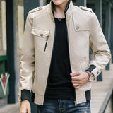 Mens Stand Collar Military Jacket
