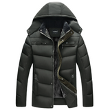 Mens Winter Puffer Coat with Detachable Hood