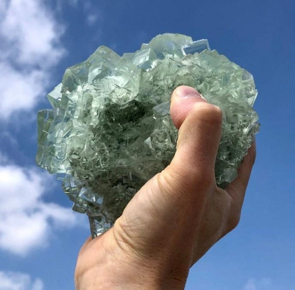 Natural Raw Green Fluorite Natural Crystal 5 lb