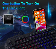 Load image into Gallery viewer, Dragon Midnight Black Mechanical Gaming Keyboard and Mouse Set