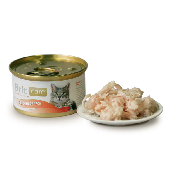 Brit Care pechuga de pollo gatos 80 gr.