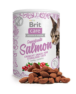 Brit Care snack superfruits salmón 100 gr.