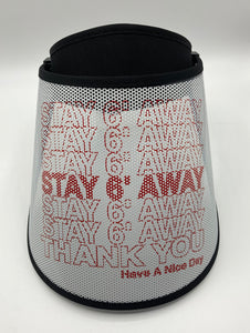 Fashion Visor - Stay 6 Feet Away Print