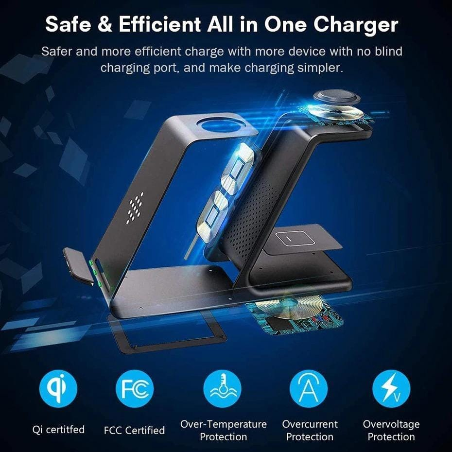 3-in-1 Fast Wireless Charging Station For iPhone & Samsung