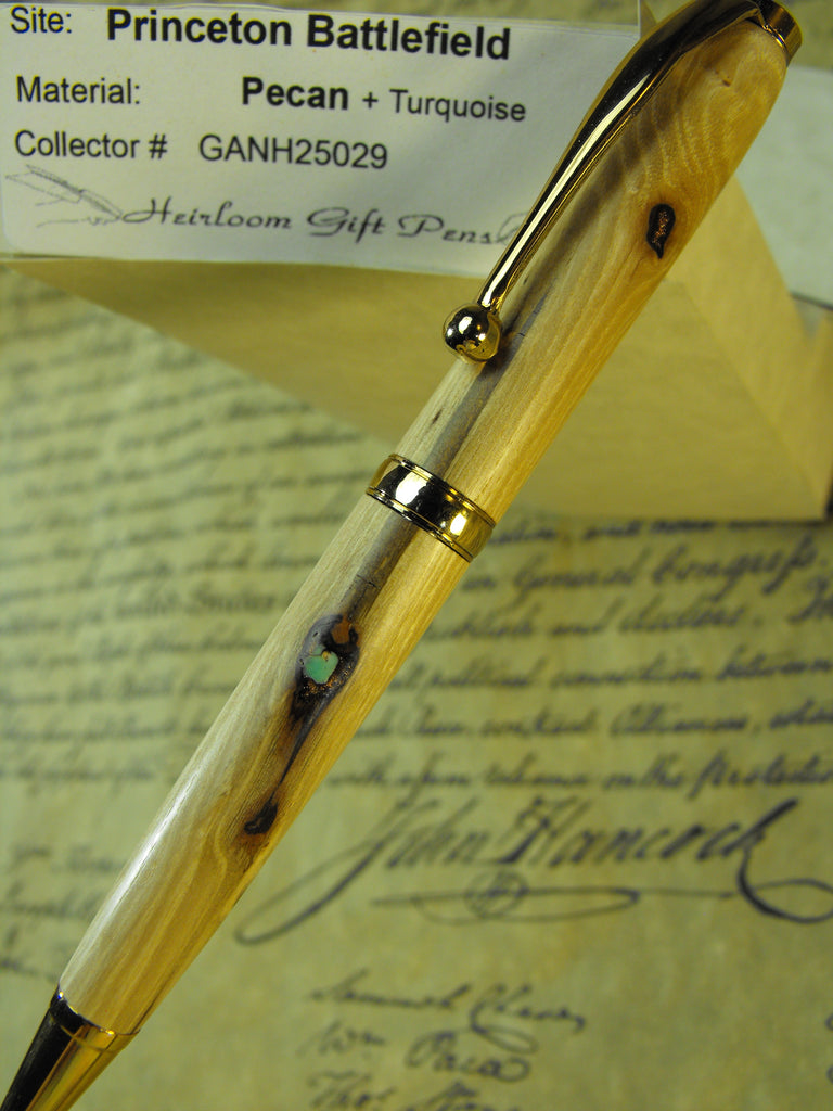 American Revolution Princeton Battlefield Pecan Tree with turquoise Pen # GANH25029