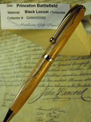 American Revolution Princeton Battlefield Black Locust Tree with turquoise Pen # GANH25055