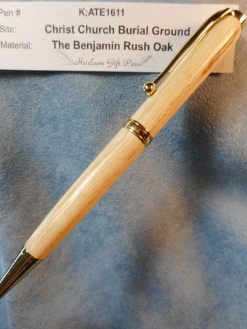 Declaration of Independence signer Dr. Benjamin Rush # K;ATE1611 from the Benjamin Rush Oak