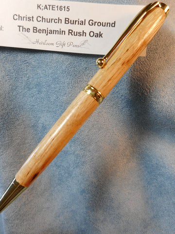Declaration of Independence signer Dr. Benjamin Rush # K;ATE1615 from the Benjamin Rush Oak