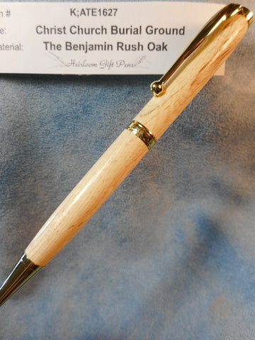Declaration of Independence signer Dr. Benjamin Rush # K;ATE1627 from the Benjamin Rush Oak