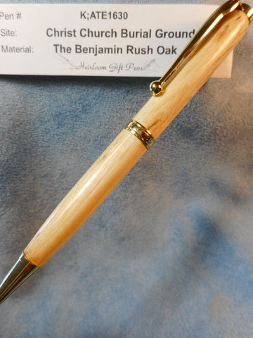 Declaration of Independence signer Dr. Benjamin Rush # K;ATE1630 from the Benjamin Rush Oak