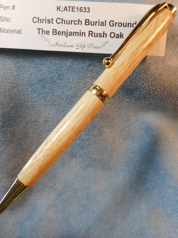 Declaration of Independence signer Dr. Benjamin Rush # K;ATE1633 from the Benjamin Rush Oak