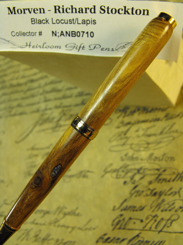 Declaration of Independence signor Richard Stockton # N;ANB0710 Black Locust and Lapis Pen