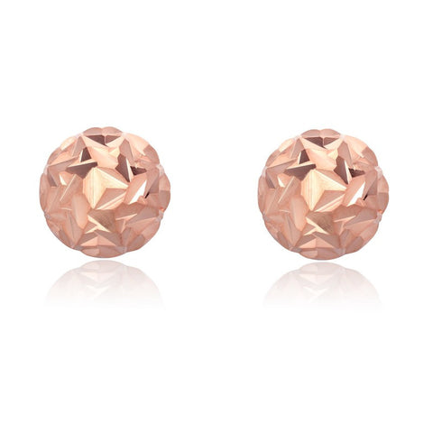 Rose Gold Crunched Knot Stud Earrings