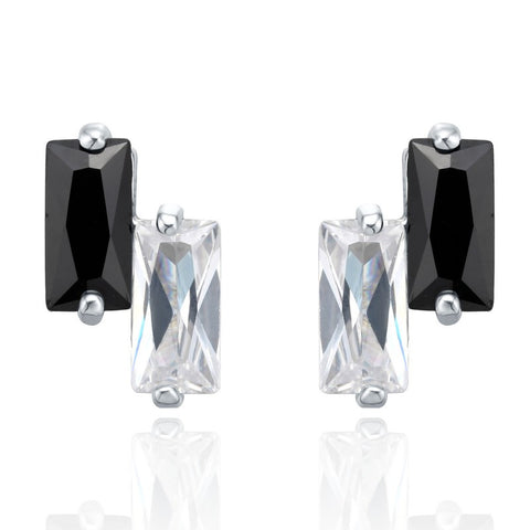 Black & White Block Stud Earrings