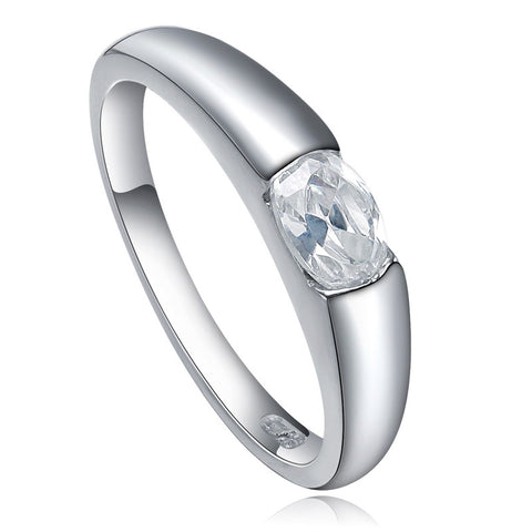 Silver Clear Cubic Zirconia Ring
