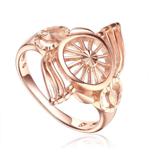 14 Spoke Wheel Rose Gold Ring