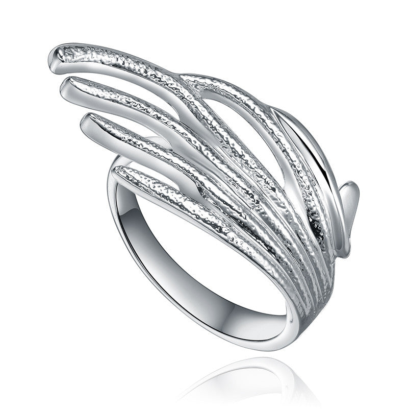 Silver Strands Splash Ring