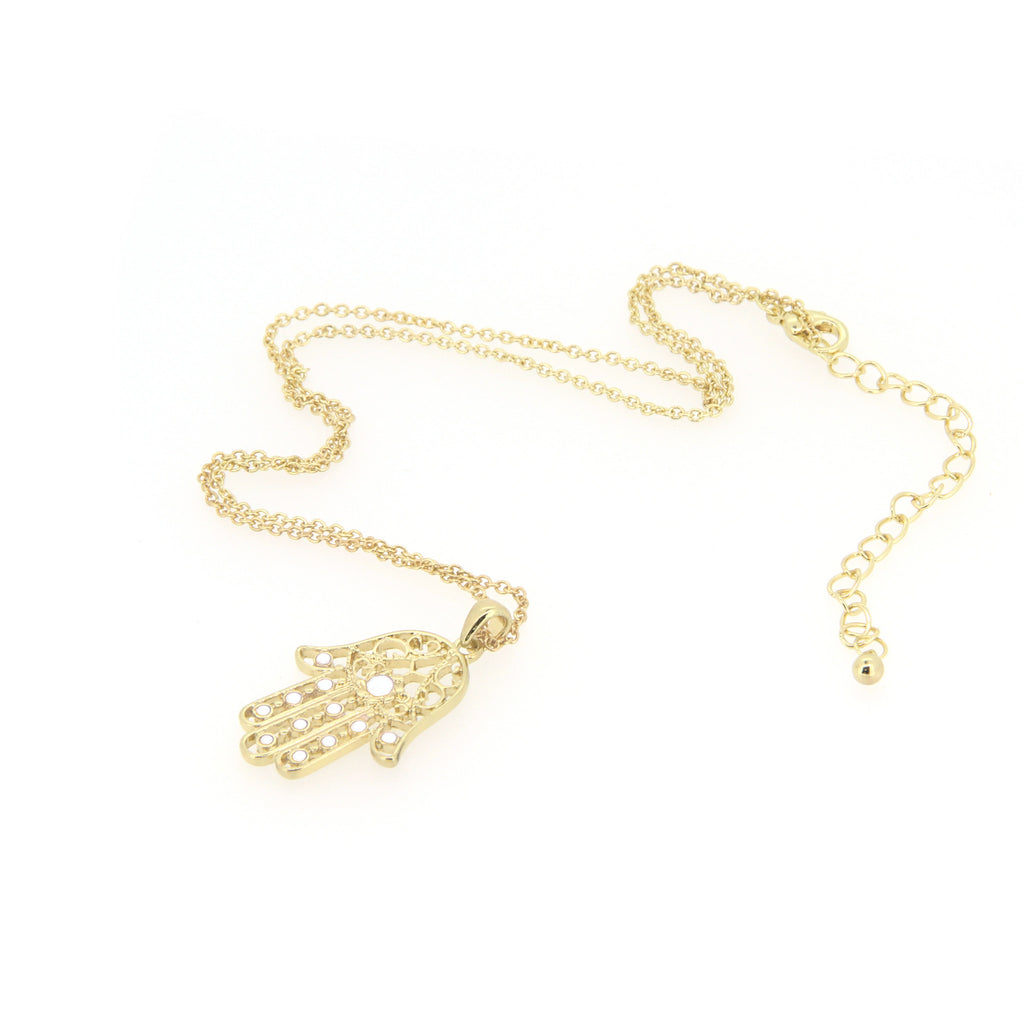 Gold Hamsa Queen Necklace