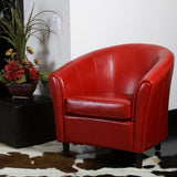 Newport Red Leather Club Chair