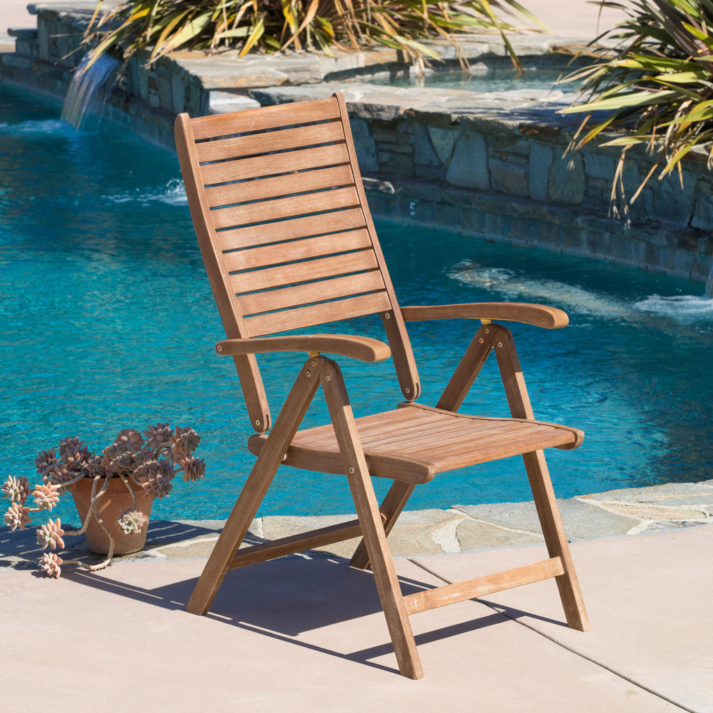 Pacific Hard Wood Outdoor Chairs (Set of 2)