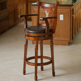 Montreal Cherry Finish Swivel Bar Stool
