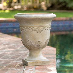 Floriana Antique Green Stone Planter