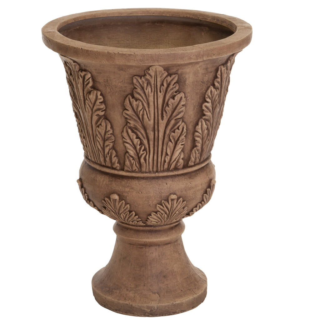 637162117712 Patra Light Brown 24-inch Urn Planter