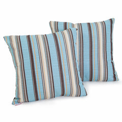 "Celina Striped 17"" Outdoor Sunbrella Accent Pillows (Set of 2)"