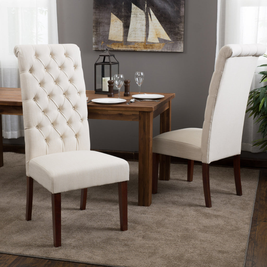 Cooper Tall Natural Fabric Dining Chair (Set of 2)